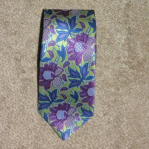 Ermenegildo Zegna Current Abstract Floral Silk Tie